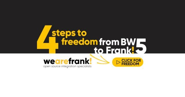 4 steps to freedom, from BW5 to Frank!